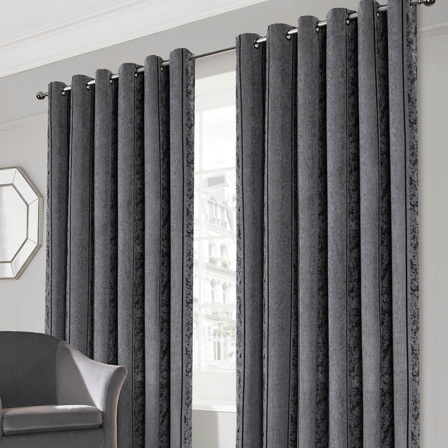 PARKER GREY 66x54 Curtain