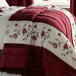 Antique Rose Red Bedspread 220cm x 230cm