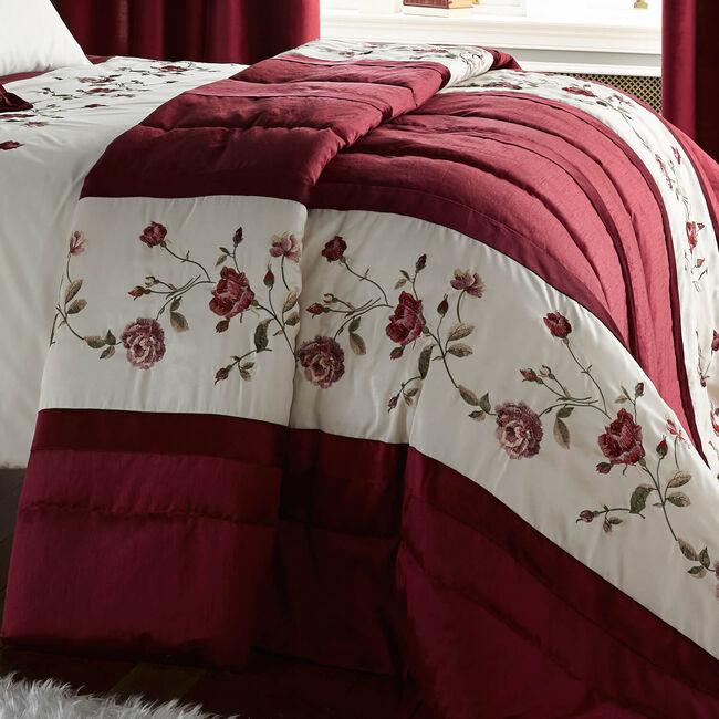 Antique Rose Red Bedspread 220cm x 230cm