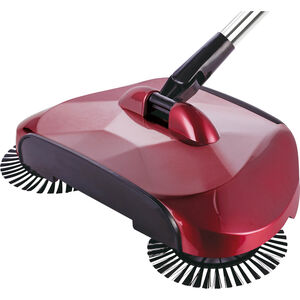 360 Degree Swivel Floor Sweeper Glossy Red