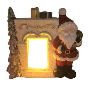 Santa at Lightup Fireplace Scene