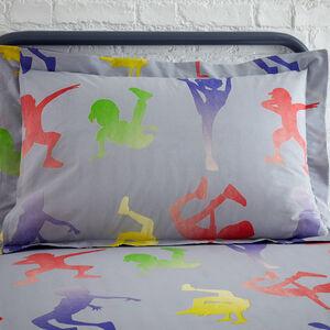 Dance Moves Oxford Pillowcase Pair - Grey