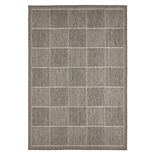 CHECKERED FLATWEAVE  60x110cm Grey