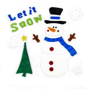 Let It Snow Snowman Window Gel