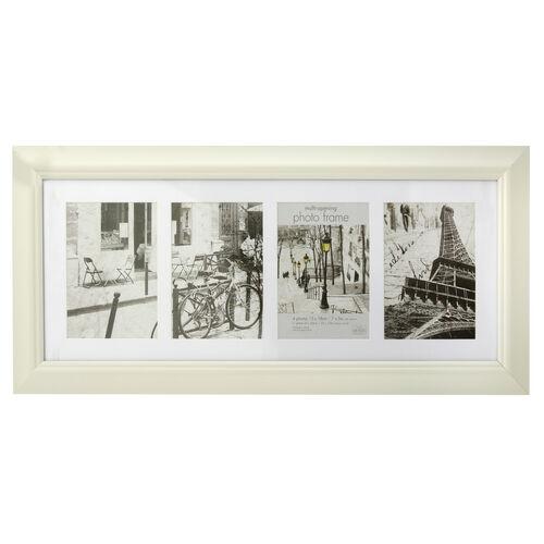 5x7 COLLAGE 4 WINDOWS SIMPLY CREAM Photo Frame