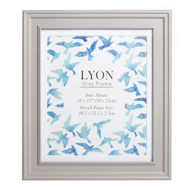 Lyon Grey Photo Frame 10x12""