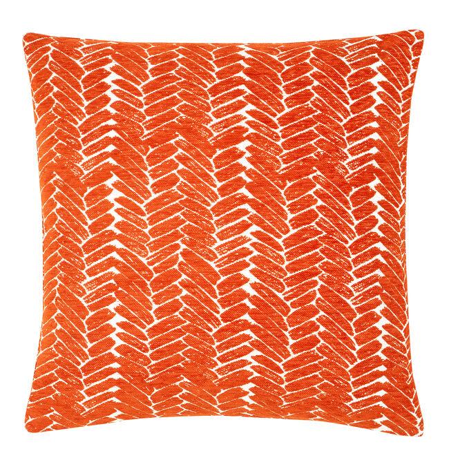 Night Peacock Cushion 58x58cm - Orange
