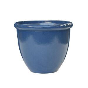 Small Blue Glaze Lite Plant Pot