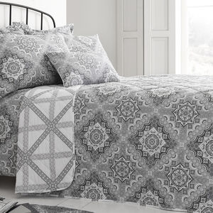 Ice Crystal Grey Bedspread