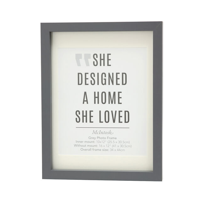 McIntosh Grey Photo Frame 10x12""