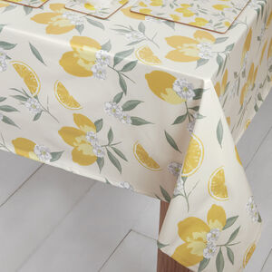 Lemons PVC Table Cloth 160x230