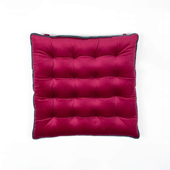 Naomi Kitchen Seat Pad - Raspberry