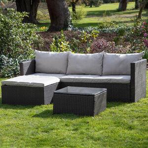Turin Rattan Sofa Lounger Set