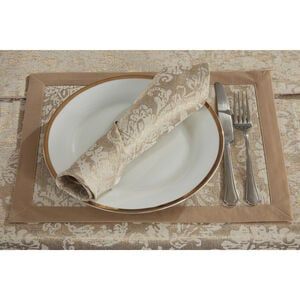 Damask Medallion Placemat 2 Pack - Gold
