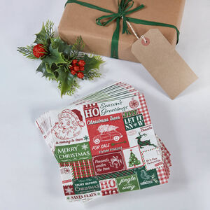 Retro Santa Napkins 20 Pack