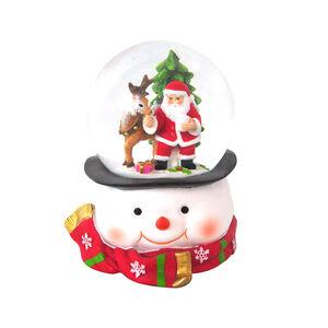 Snowman Face Musical Snow Globe