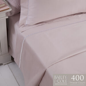 DB FLAT SHEET Chevron Blush 400tc