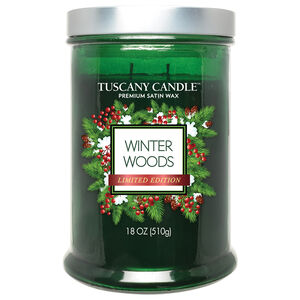 Tuscany Double Wick Candle Winter Woods