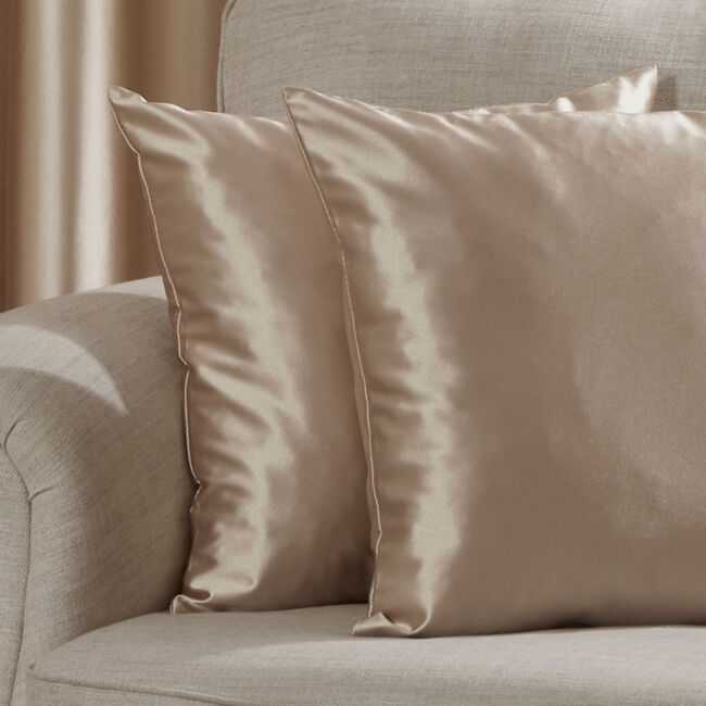 Lucca Faux Silk Cushion 45x45cm - Gold