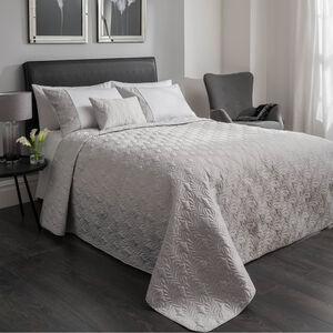 Moher Silver Bedspread 220cm x 230cm