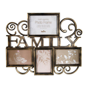Milano Bronze Photo Frame 4 Windows