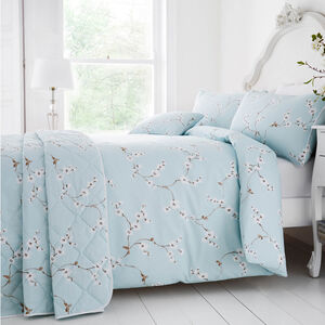 Blossom Duck Egg Bedspread 200cm x 220cm