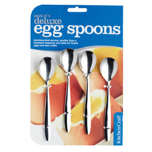 Kitchen Craft S/Steel 4 Egg Teaspoons