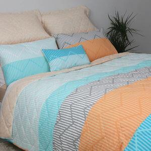 Industrial Stripe Neon Bedspread 200cm x 220cm