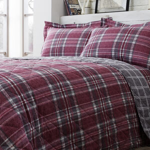 Brushed Cotton McGill Check Bedspread 200 x 220cm