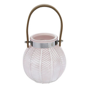 afda85a9ee7 Large Pink Glass Lantern with Leather Handle. NEW IN