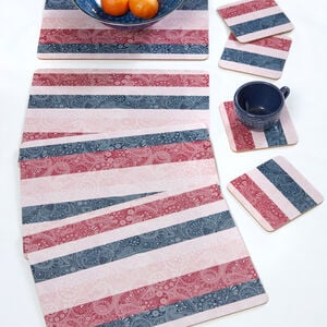Paisley Stripe Mats & Coasters 4 Pack
