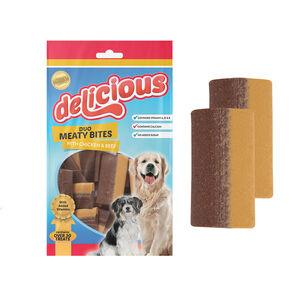 2-Colour Meaty Strips Dog Treat 200g