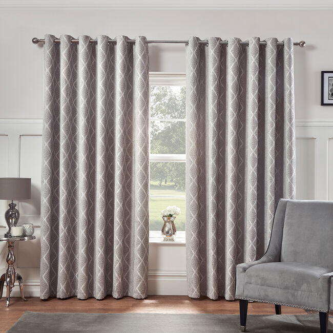 PEARL DOVE GREY 66x54 Curtain