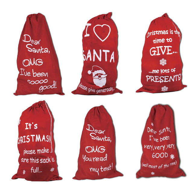 Giant Slogan Santa Sack