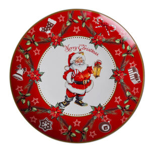 Love Christmas Santa Merry Christmas Large Plate