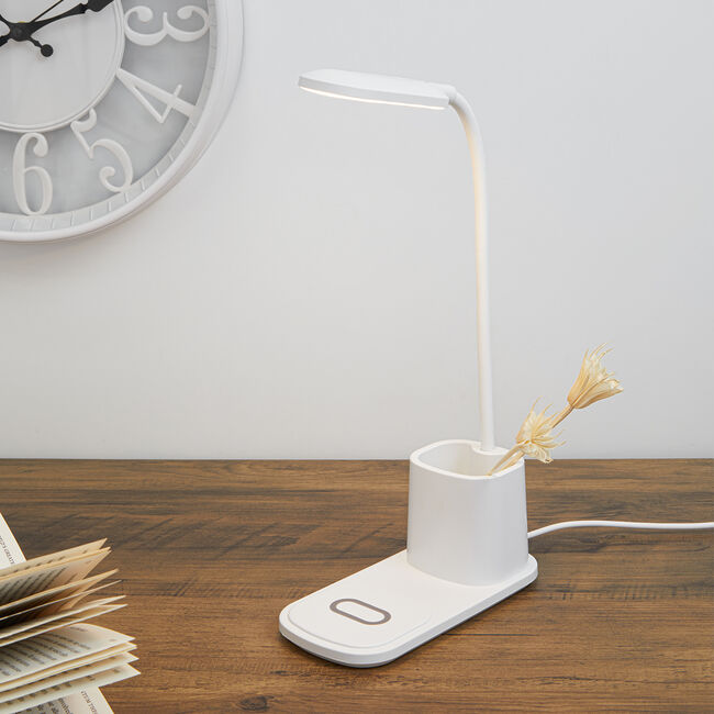 LED Desk Lamp w/ Phone Charger