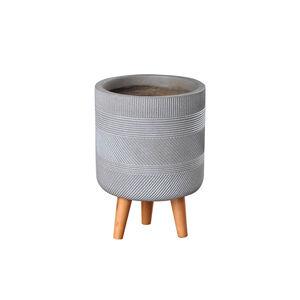 Small Inca Pedestal Fibre Clay Plant Pot