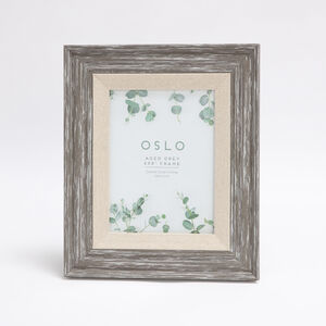 Oslo Aged Grey Photo Frame 6x8""