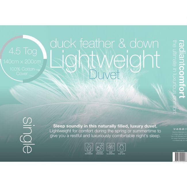 Duck Lightweight Duvet Single