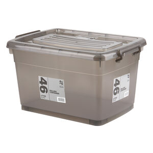 Rolling Storage Container 46L - Slate