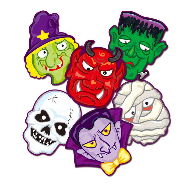 Halloween Characters Assorted Face Masks