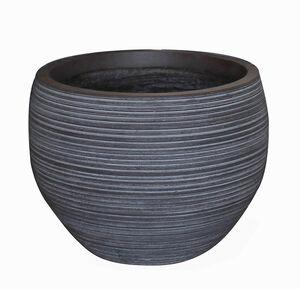 Medium Round Charcoal Fibre Clay Pot