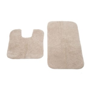 Cotton Plain Dye Mocha 2 Piece Bath Set