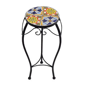 Large Mosaic Tile Plant Stand