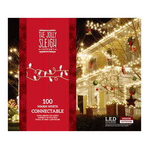 100 Warm White Connectable Lights