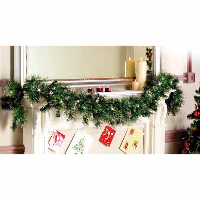 Christmas Garland with Glitter Tips