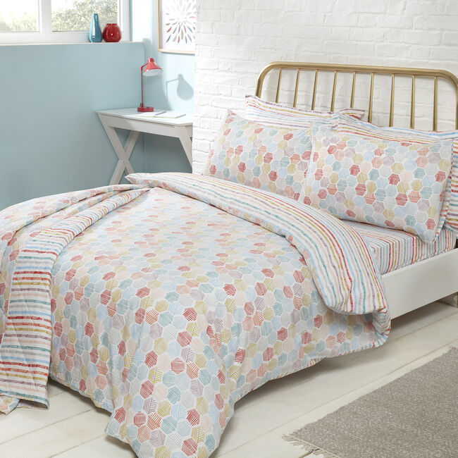 SINGLE DUVET COVER Aidan Multi 300tc