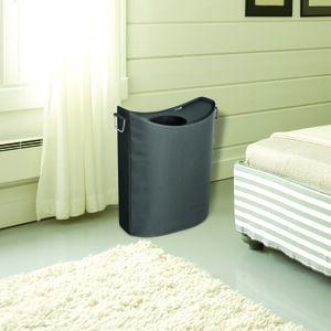 Oval Laundry Hamper Dark Grey