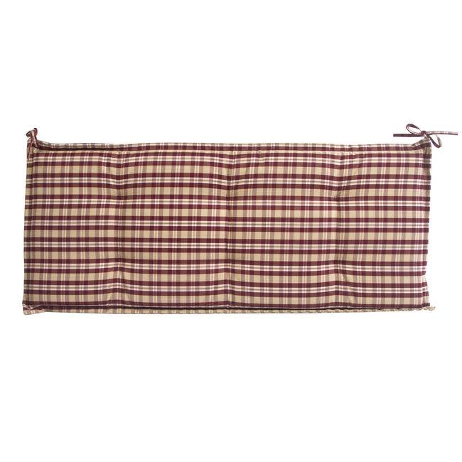 Bench Cushion Red Check