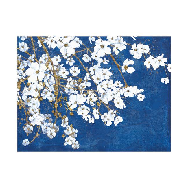 Cherry Blossoms Blue Canvas 60x80cm